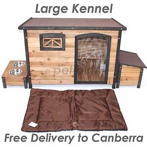 Indoor Outdoor Pet Wood Home Quality Wooden Dog House Kennel Pup Canberra City North Canberra Preview