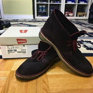 Clarks Originals Desert Boot - Red suede sz9