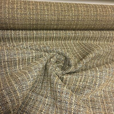 BEAUTIFUL BROWN BEIGE CHENILLE UPHOLSTERY FABRIC 5.5 METRES