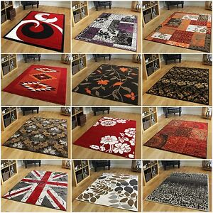 Small-Medium-Large-Modern-Rugs-Soft-Easy-Clean-Living-Room-Rugs-Red-Purple-Rugs