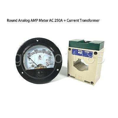 Us Stock Ac 0250a Analog Amp Current Panel Meter Ammeter Current Transformer