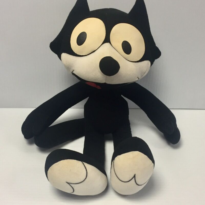 """2001 Toy Works FELIX THE CAT Cartoon Character 15"""" Plush Stuffed Toy"""