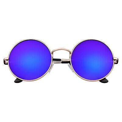 Round Hippie Sunglasses (John Lennon Sunglasses Round Hippie Shades Retro Reflective Colored)