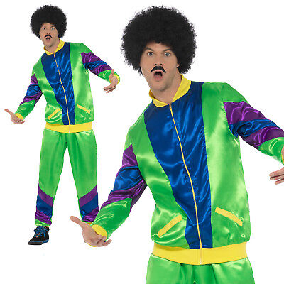 80s Shell Suit Costume Tracksuit New Adult Mens Scouser Fancy Dress Outfit (Men 80s Costumes)