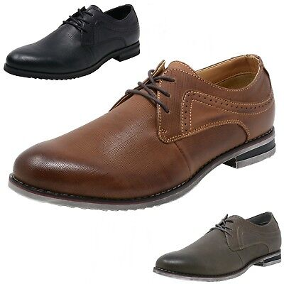 Double Diamond by Alpine Swiss Mens Saffiano Leather Lace-Up Oxford Dress Shoes