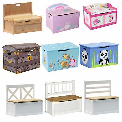 Massivholz Spielzeugkiste Truhe (ib style® Spielzeugkiste Truhenbank Sitzbank Kindermöbel Sitzgruppe Auswahl)