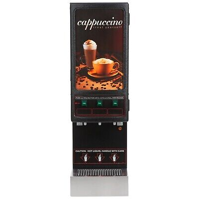 Cecilware 3k-gb-ld Cappuccino Dispenser With Three Hoppers And Lit Sign - 120v