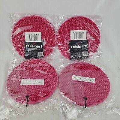 Cuisinart Multipurpose Silicone Kitchen Trivet/Pot Holder Pink Set Of 4