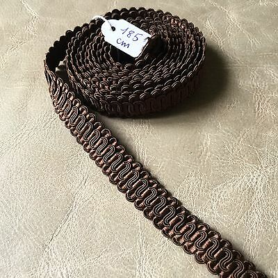 Film Braid Antique Trimmings Chocolate 1,85 M 1900 Antique French Galloon