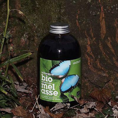 Schwarze Bio-zuckerrohrmelasse, Melasse, 1 Liter, Nahrungsergänzung