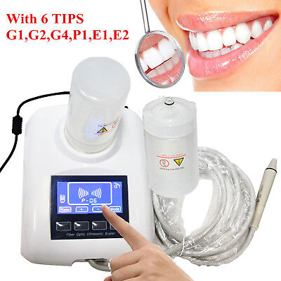 Us Portable Dental Ultrasonic Piezo Scaler Scaling Handpiece 2 Bottle Fit Ems