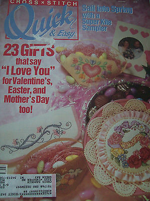 Cross Stitch Quick & Easy Feb March 1991 Magazine Book Valentines Mothers Day](Easy Mother's Day Crafts)