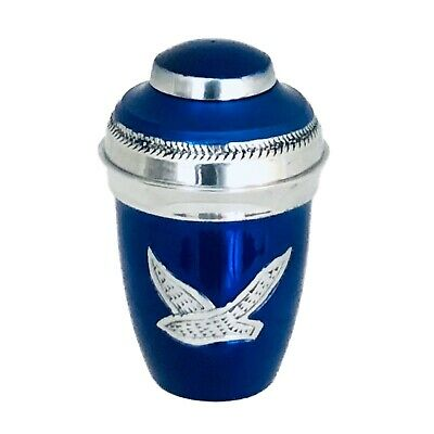 Well Lived® Blue Bird Flying Small Keepsake Set of 4 Cremation Urn human ashes