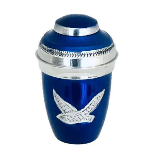 Well Lived™ Blue Birds Flying Small Keepsake Cremation Urn for human ashes