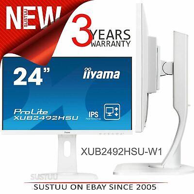 Iiyama ProLite IPS LED Computer Monitor│24'' FullHD Screen│Height Adjustable│WHT