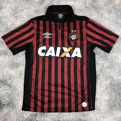 Official 2013-2014 UMBRO Brazil Club Atletico Paranaense CAIXA Soccer Jersey L image