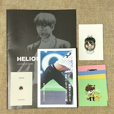 BTS JUNGKOOK [ HELIOS Exhibition Photobook +Iring + Poster + Sticker ] New /+GFT