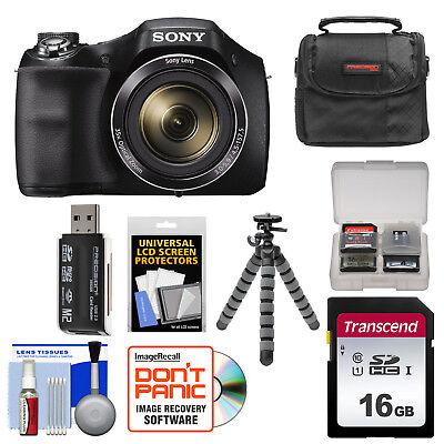 Sony Cyber-Shot DSC-H300 35x Zoom Digital Camera + Kit Black