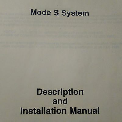 Honeywell Mode S Transponder 4061400, 4052190 Installation Manual