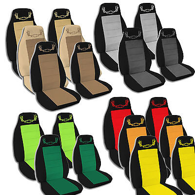 2000 to 2002 Chevy Antler Captain Chair Seat Covers 2 Armrest Covers Included  ()