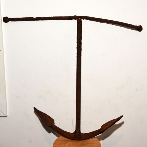 Antique Hand Forged Wrought Iron Ship Boat Anchor