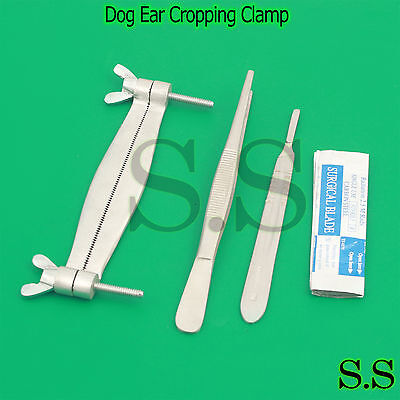 Terrier Dog Ear Cropping Clamp Guide Tools Kit Veterinary Instruments Vt-101