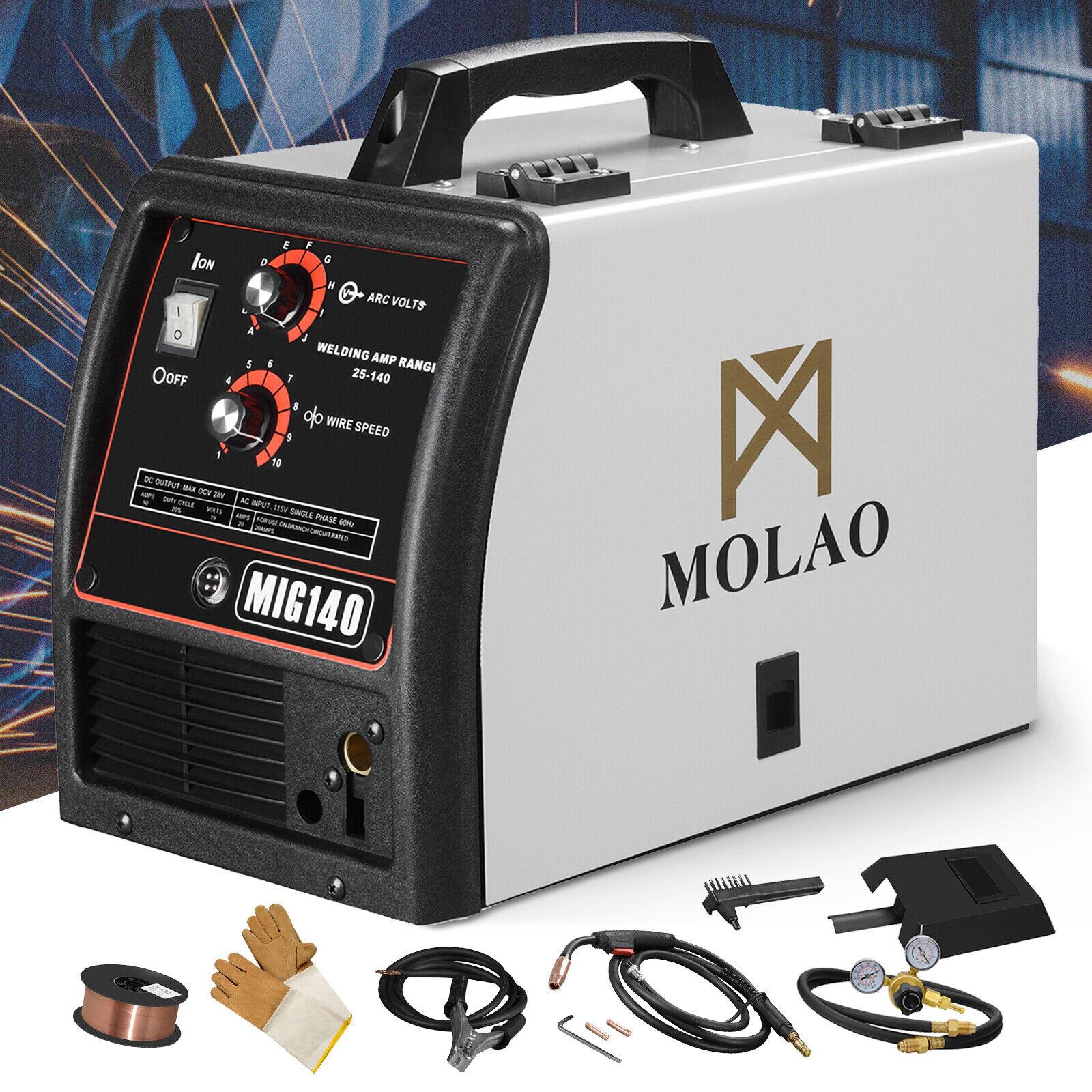 MIG Welder MIG 140 Wire-Feed 115V Welding Machine with Free