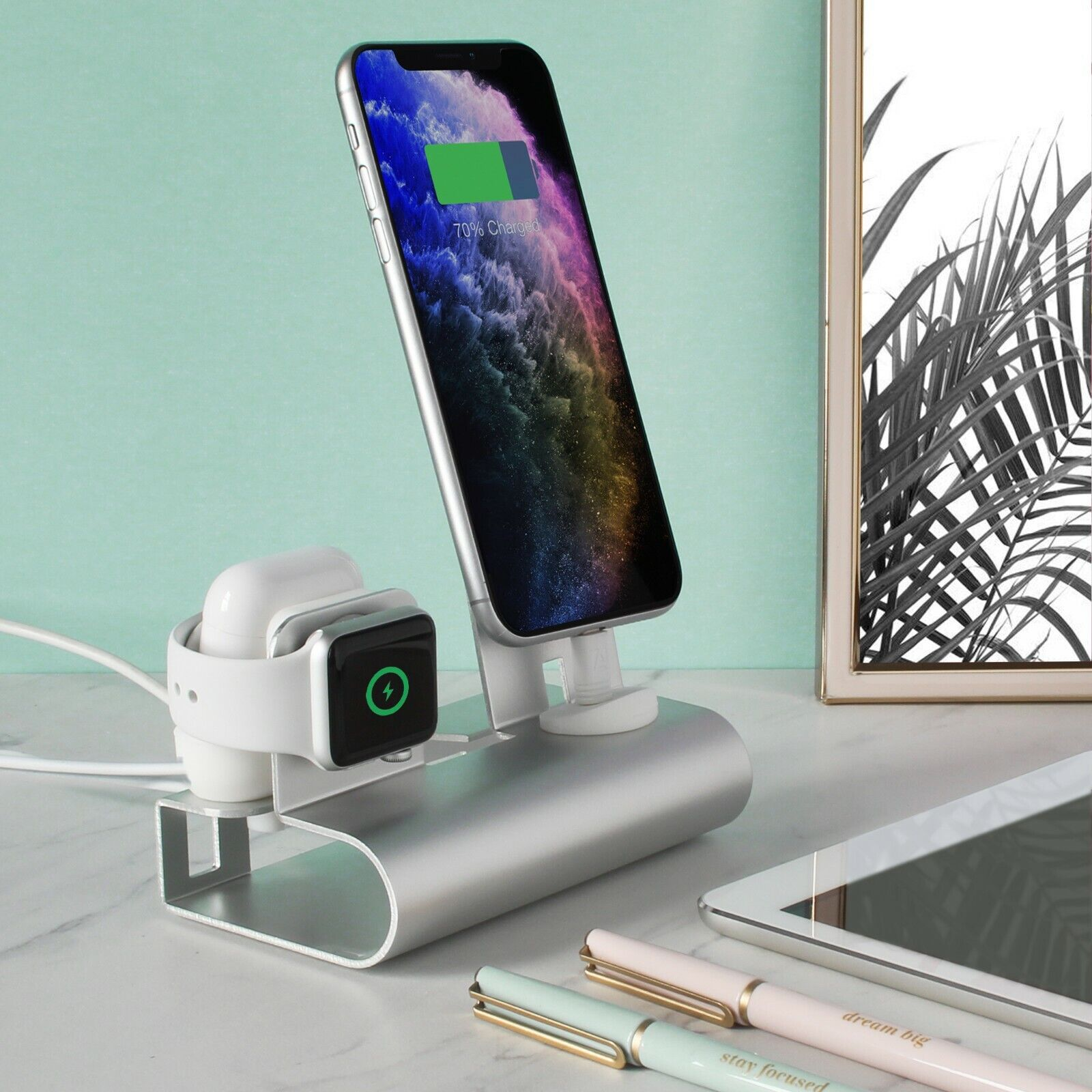 Aduro Desktop Charging Station for iPhone Apple Watch & Air