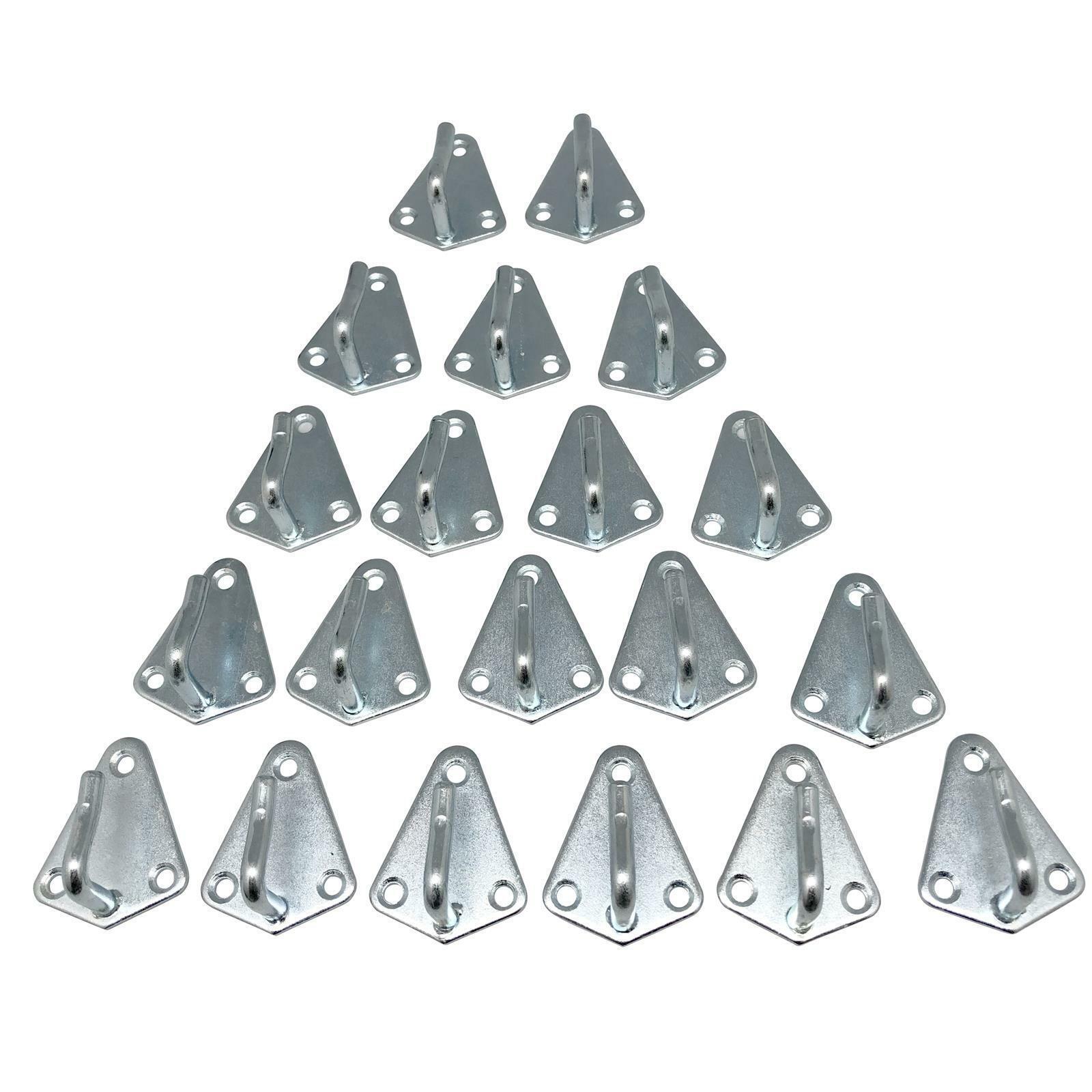 20 x Dreiloch Planenhaken Abspann  Haken  Guss für Anhängernetz Netz Anhänger