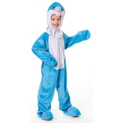 KIDS DOLPHIN MASCOT LARGE HEAD HALLOWEEN - Age 5-7 - boys fancy dress costume