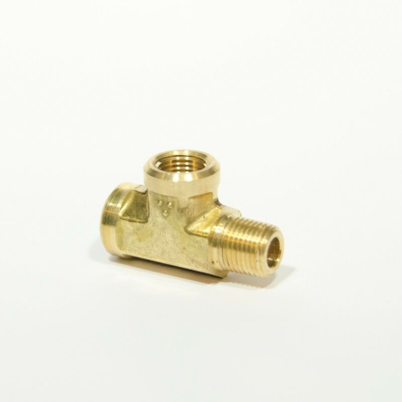 "Forged Street Tee Fitting 1/8"" NPT Male Female, Fuel, Air, Oil, Brass FasParts"
