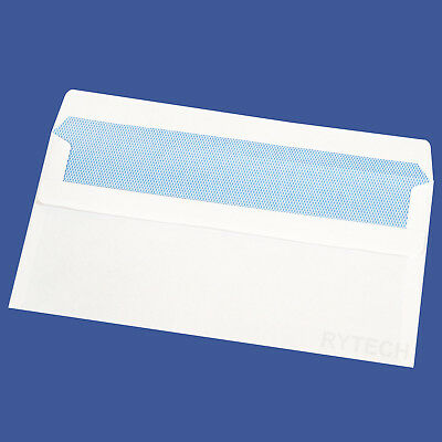 25 X Plain White DL Self Seal Envelopes 90GSM Opaque Postal Letter Mail Quality