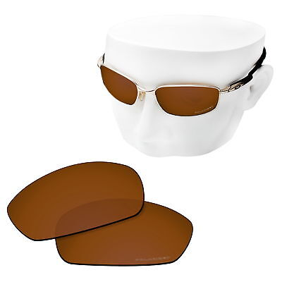 OOWLIT Replacement Sunglasses Lenses for-Oakley Blender POLARIZED Etched- Brown for sale  Shipping to United States