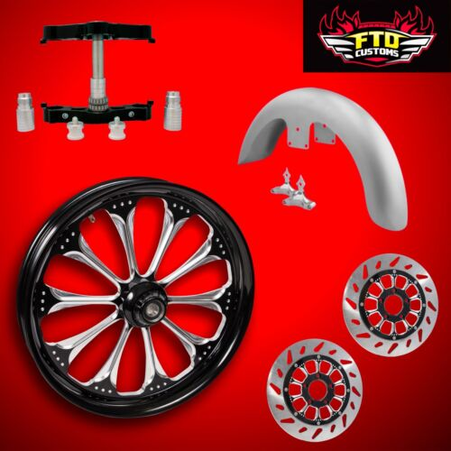 "23 Inch Big Wheel Kit, Wheel, Tire, Rotors,triple Tree, & Fender ""wizard"""