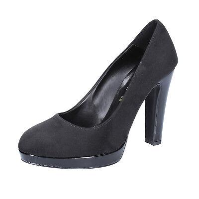 Zapatos Mujer OLGA RUBINI 38 Ue Zapatos de Salón Negro Ante BX842-38