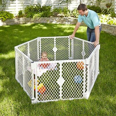 Baby Gate Play Yard Toddler Playpen For Outdoor Indoor Fence Portable 6 Panel