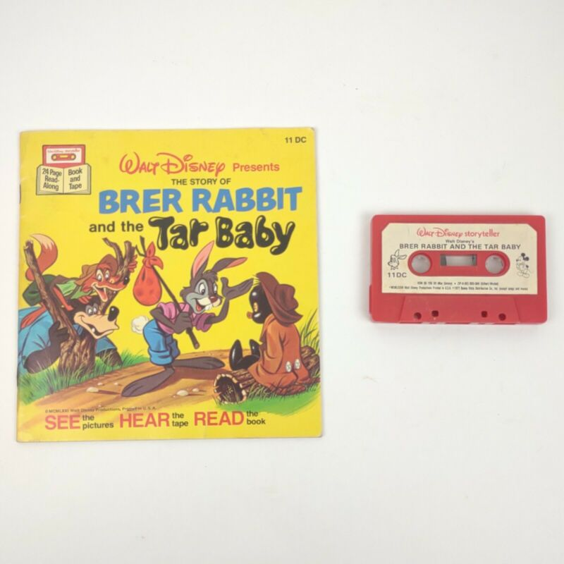 Brer Rabbit And The Tar Baby Walt Disney Book and TAPE Vintage Collectible