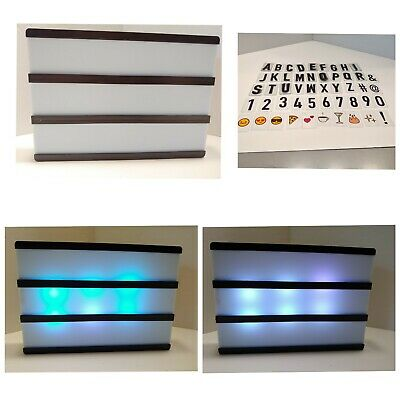 Message Box Sign Board Battery Letter Numbers Symbols 8x6 Color Light Changes