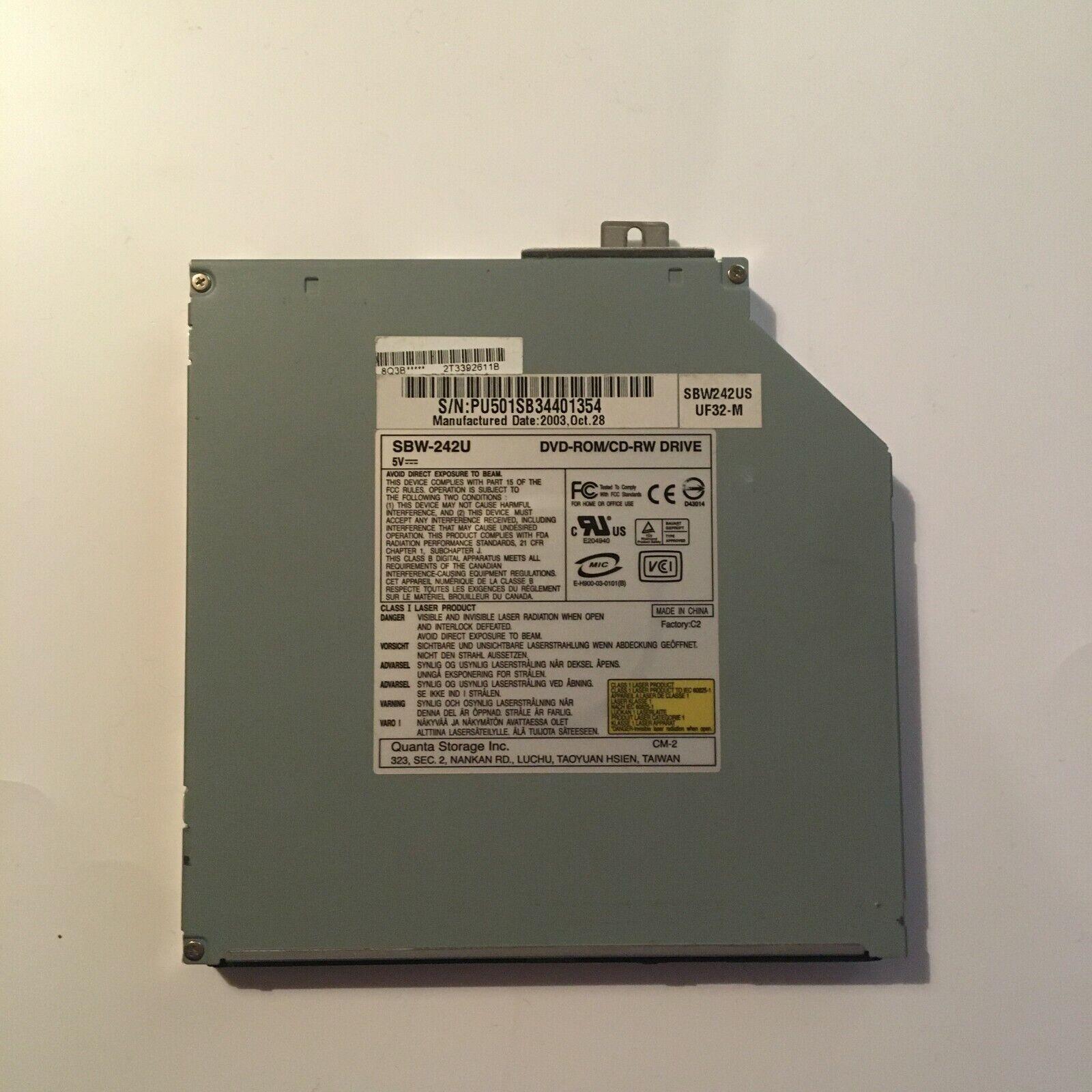Graveur/lecteur cd et dvd ide interne sbw-242u pour pc portable