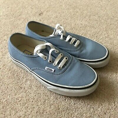 KIDS VANS BLUE BOYS TRAINERS UK 3 BLUE SHOES LACE UP