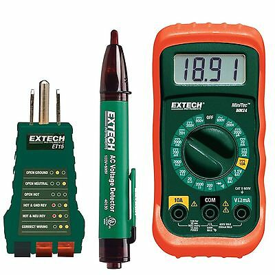 Electrical Test Kit With Receptacle Tester Non-contact Voltage Detector Safety