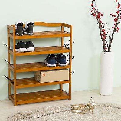 Wooden Shoe Storage Rack Shoe Organiser Shoes Storing Furniture Shoe 5 Tier Wood