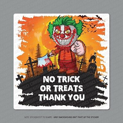 Halloween No Trick Or Treaters Sign (No Trick or Treaters - Door Sticker Decal Halloween Sign)