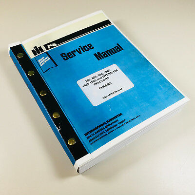 International 1586 Hydro 186 Tractor Service Repair Shop Manual Ih Technical