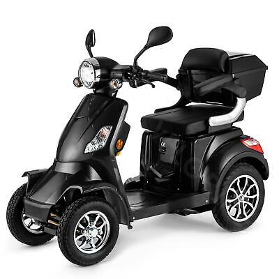 Scooter Electrico Minusvalido Moto Mayores 4 Ruedas 1000W 55km 25km/h NEGRO