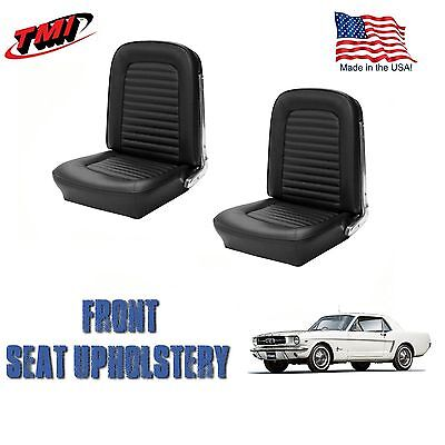 1964 &1965 Mustang Front Bucket Seat Upholstery Black Vinyl  by TMI-IN (Front Bucket Seat Upholstery)