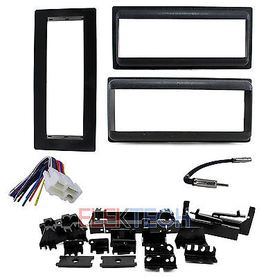 Single-DIN Radio Replacement Dash Kit w/Harness/Antenna for Chevrolet (1858 Vehicle Harness)