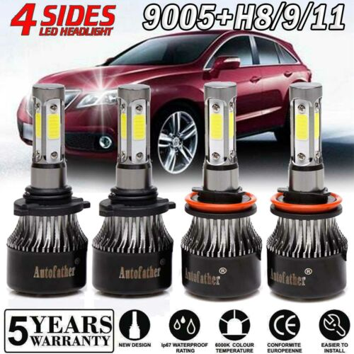 9005+H11 High Low Combo LED Headlight Kit For Acura ILX