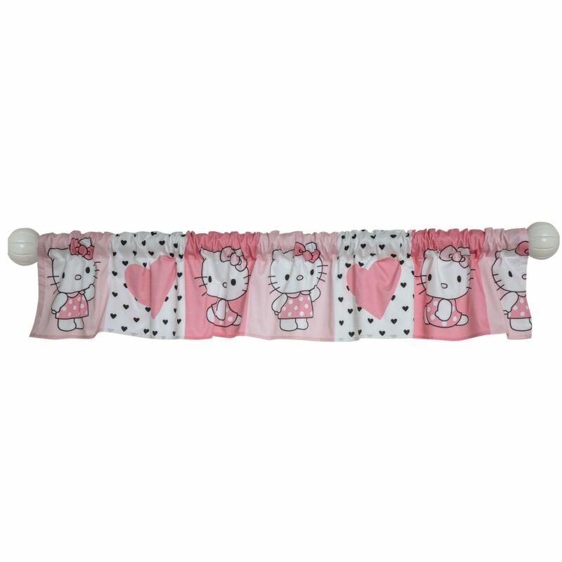 Bedtime Originals Hello Kitty Luv Pink/White Window Valance