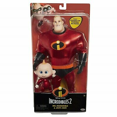 Mickey And Minnie Baby Costumes (Incredibles 2 Mr Incredible and Jack Jack Deluxe Costume Doll Ages 3+ Toy)